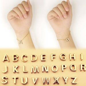 "Jewelry - Initial Letter ""A"" 14K Gold Charm Bracelet"